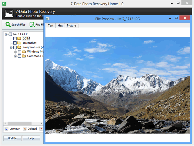 Image and digital photo recovery software