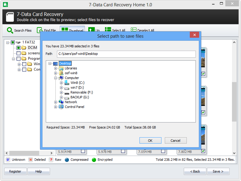 Step 4. Save recovered files.