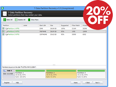 7-Data Partition Recovery 20%