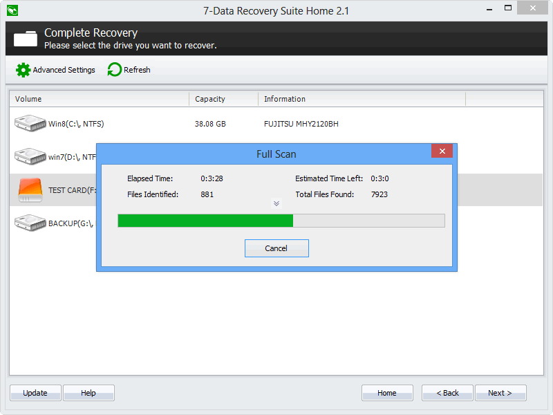 Data Recovery Suite - Scan